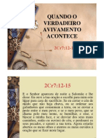 2 Cronicas 7 - Avivamento