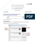 SAP2000 Tutorials - CE463_Lab4