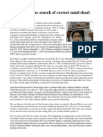 Benazir Bhutto - Search of Correct Chart