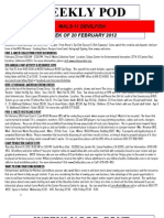 FRO WEEKLY PLAN OF THE DAY, THE WEEK OF 20 FEBRUARY 2012