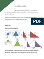 similarity concept lesson plan