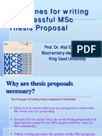 PDF Guidelines for Writing a Successful MSc Proposal
