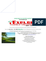 Acrylic Stand Golf