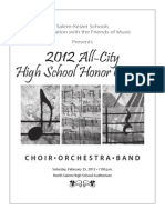2012 All-City High School Honor Concert program