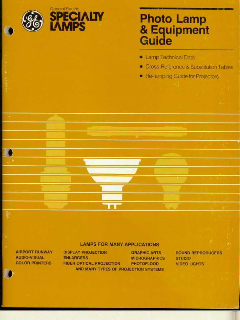Ge Photographic Lamp Guide 1986 Ddx 616 Kenwood Stereo Wiring Diagram