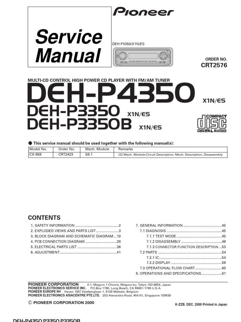 Pioneer Deh 6400bt 64bt 7300bt Honda Cb900c Wiring-diagram