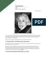 10 Strange Facts About Einstein