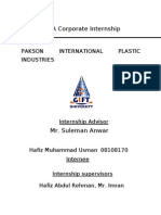 65946683 BBA Corporate Internship Report on Pakson Industries Boss Pakistan