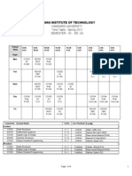 Third Semester Time Table Spring 2012