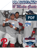 2011 LAKEWOOD Blueclaws Media Guide