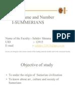 Lecture 1 Sumerians