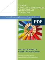 Curriculum Development & Assessment