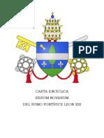 ENCICLICA RERUM NOVARUM