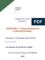 CHAPITRE I – Notions générales de la thermodynamique( www.stsmsth.blogspot.com )