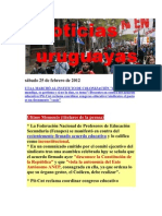 Noticias Uruguayas sábado 25 de febrero de 2012