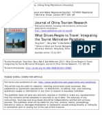 20110610 JCTR What Drives People to Travel Integrating the Tourist Motivation Paradigms