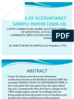 Analysis of Accountancy Sample Papers (2009-10)