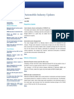 Automobile Industry Updates - July 2009