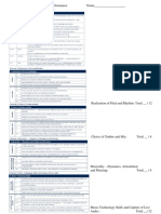 Integrated Sequenced Performance Marksheet 3a