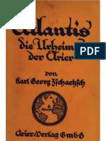 Tschaetzsch Karl - Atlantis, Die Urheimat Der Arier (1922, 104 S., Scan, Fraktur)
