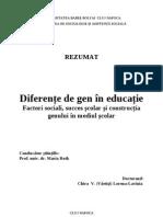 Diferente de Gen in Educatie