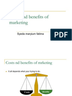 Costs and Benefits of Marketing
