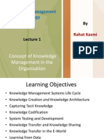 Knowledge Management Strategy, Practice of Knowledge Work in the ion , Lecture 2