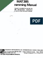MAT 385 Programming Manual