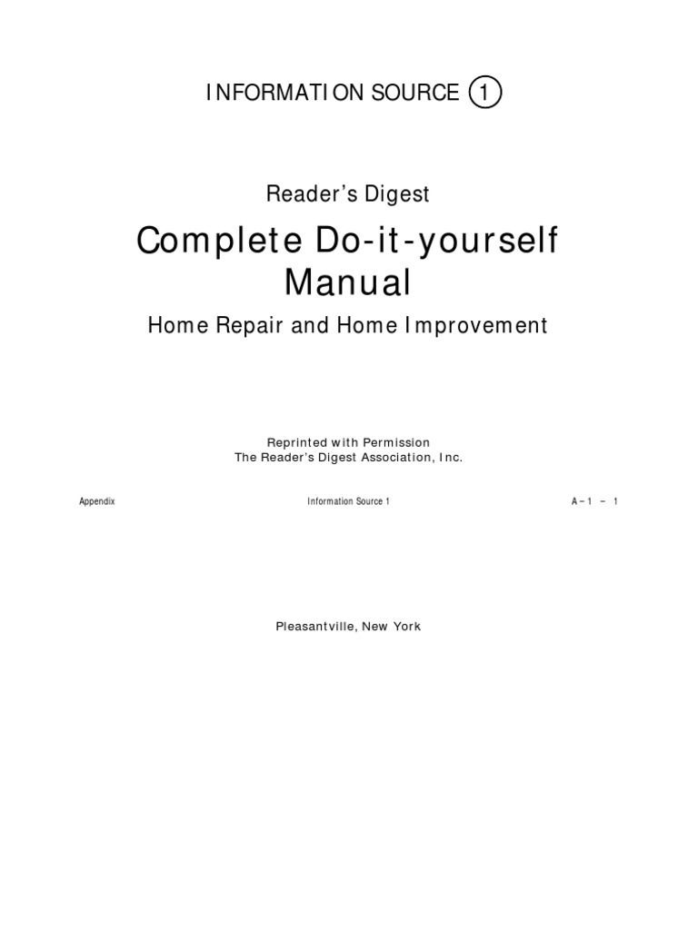 Readers digest complete do it yourself manual home repair and readers digest complete do it yourself manual home repair and home improvement appendix1 dishwasher plumbing solutioingenieria Choice Image