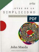 Las Leyes de La Simplicidad John Maeda
