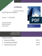 Best-Garant Zertifikate (Topics in Insurance & Finance) Teil 1