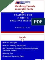 MCDP Precinct Organization Training 2012