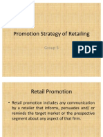 Promotion Strategy of Retailing