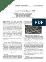 Safe Lines to Transit in Tehran's BRT