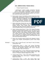 UU No.3 Tahun 1992 Tentang Jamsostek
