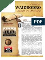 Waidrodro Newsletter