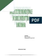 Analiza Culturii Organization Ale in Cadrul UniCredit Tiriac Bank Romania