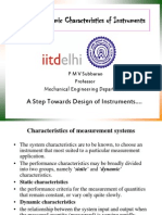 Static and Dynamic Characteristics of Instruments
