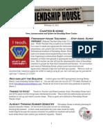 Friendship House MSU Chapter & Verse Newsletter Vol 2.3