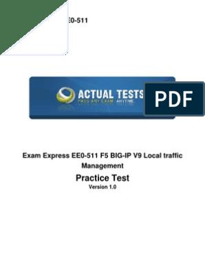F5 Networks Certification Exams | Load Balancing (Computing