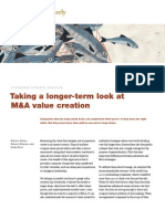 Taking a Longer Look and M&a Value Creation - McKinsey
