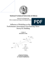 Influence of Modeling on the Seismic Performance Assessment of an Existing Three Storey RC Building