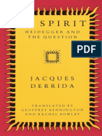 Jacques Derrida - Of Spirit - Heidegger and the Question
