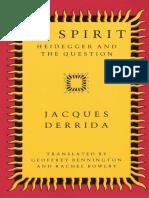 Jacques Derrida - Of Spirit - Heidegger and the Question