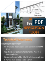 Roof framing specification