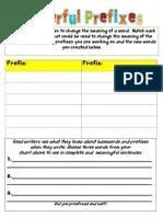 Prefix Recording Sheet