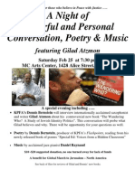 Gilad Atzmon - Conversation, Poetry & Music