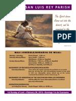 MSLRP Bulletin 02-25-2012
