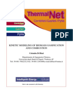 2F-1 Kinetic Modelling of Biomass Gasification and Combustion