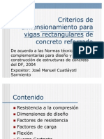 Criterios de Dimension a Mien To Para Vigas de Concreto Reforzado